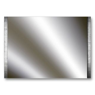 Silver Wi Metal Borders Business Cards