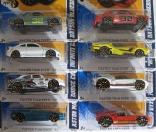 Hot Wheels Faster Than Ever 16 Car Complete 2012 Factory Hologram