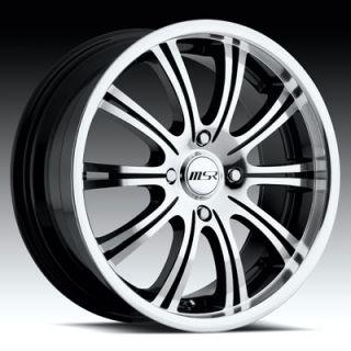 17 x7 5 MSR 049 0492 s F Black Wheels Rims 4 5 Lug