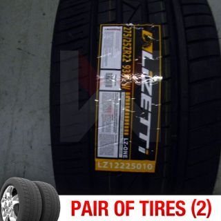 of 2) New 275/25R22 Lizetti LZOne Two Tires (1 Pair) 275 25 22 2752522