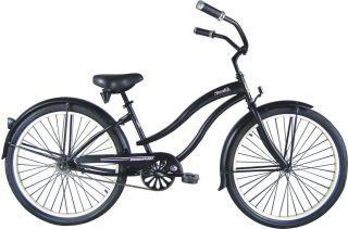 26 Beach Cruiser Bike Bicycle Stealth Lady Black Micargi