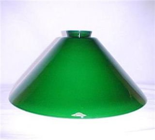 Vianne Green Glass 2 25 x 12 Cone Light Lamp Shade New
