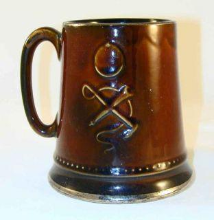 Brown SylvaC 2375 Beer Mug Hunting Dog Whip Bugle & Ridding Hat Design