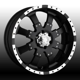 Ultra Wheel Goliath 223 224 w Matte Black Finish