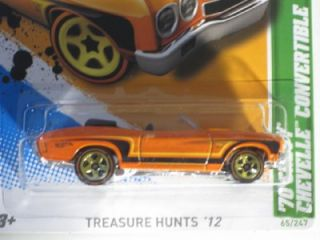 Hot Wheels 2012 Treasure Hunt 70 Chevy Chevelle Convertible