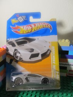 Hot Wheels Silver Lamborghini Aventador Diecast 2012 New Models Series