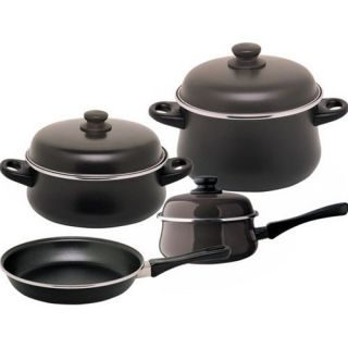 Classic Dakar ENAMEL ON STEEL 7 pc cookware set, easy clean, nonstick