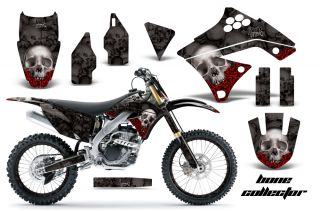 AMR Racing Dirt Bike Number Plate Decal Graphic Wrap Kawasaki KXF 250