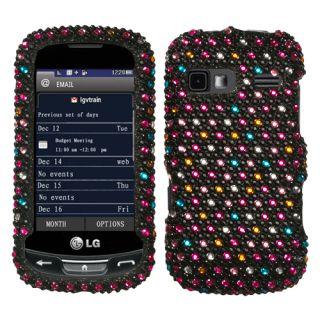 LG Rumor Reflex LN272 Xpression C395 Rhinestone Case Sparkle Dots