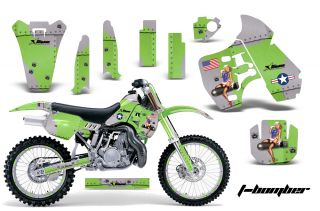 AMR Racing Dirt Bike Number Plate Background Deco Wrap Kawasaki KX 500