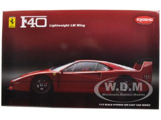 Ferrari F40 Light Weight Red with LM Wing 1 12 by Kyosho 08602RL