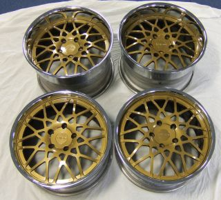 Porsche 911 996 & 997 Turbo Rotiform Forged Classic 3pc BLQ Gold Alloy
