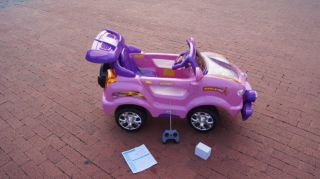 New Big Kids Pink Remote Control Ride on Car Ride on Power 6V Wheels