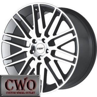 19 Gunmetal TSW Croft Wheels Rims 5x112 5 Lug VW Passat Audi A4 A6
