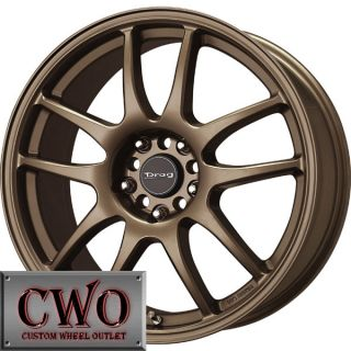 17 Bronze Drag Dr 31 Wheels Rim 5x100 5x114 3 5 Lug Eclipse Jetta Golf