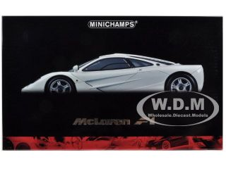 1994 McLaren F1 Roadcar White 1 12 Diecast Car Model by Minichamps