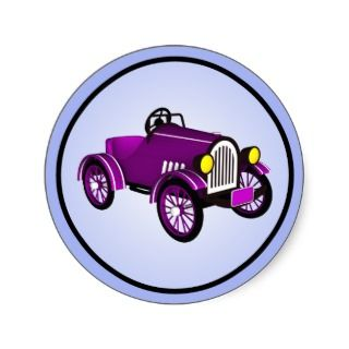 Vintage Style Toon Kit Car Stickers