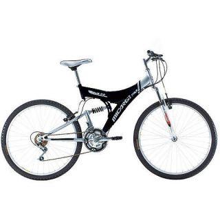 26 18 Speed Mountain Bike MTB Full Suspension Bicycle Black