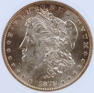 1878 s Morgan Silver Dollar ANACS MS63
