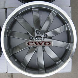 19 Gunmetal adr Propulsion Wheels Rims 5x4 75 5 Lug Camaro Firebird s