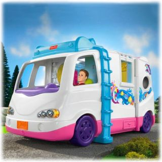 Fisher Price Loving Family Beach Vacation Doll Mobile Home W0429