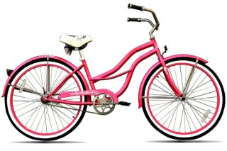 New 26 Beach Cruiser Bicycle Lady Light Pink