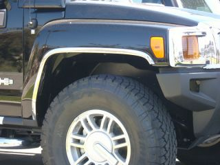 2006 2009 Hummer H3 Stainless Steel Fender Trim by Chrome Accessories