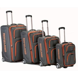 Rockland Luggage Varsity Polo Equipment 4 Piece Luggage Set Charcoal