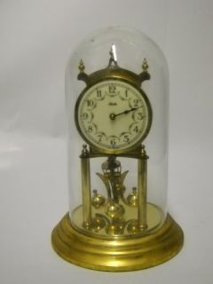 Vintage KUNDO K&O 400 Day German Anniversary Clock Porcelain face w