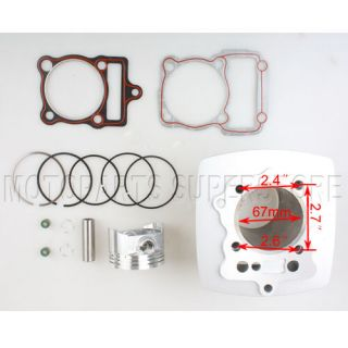 Cylinder Piston Ring Pin Gasket Kit 250cc ATV Quad 4 Wheeler Dirt Bike