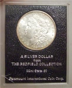 Dollar Paramount Redfield Hoard Collection Rim Toned Coin
