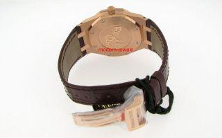 Audemars Piguet Royal Oak Day Date 18K Rose Pink Gold Mens Watch New