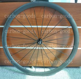 Full Carbon 700c 3K Matt 38mm Road Bike Tubular Wheels Wheelset