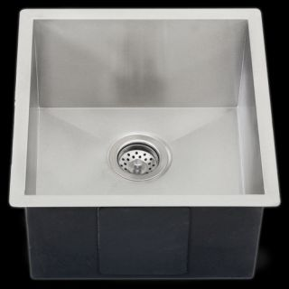 Undermount Stainless Steel Single Bowl Kitchen Sink 16g