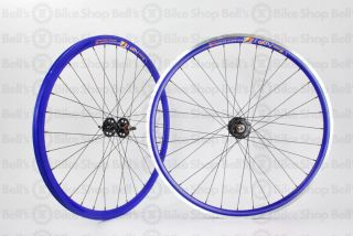 Weinmann DP18 Deep V Track Wheels Blue Fixed Gear 700c