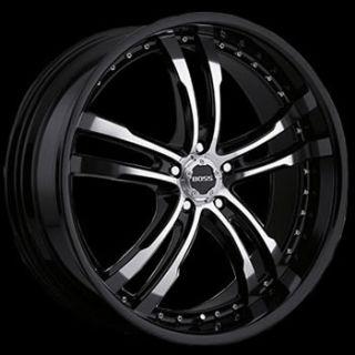22x9 Black Wheel Boss 337 5x120 BMW Acura Rims