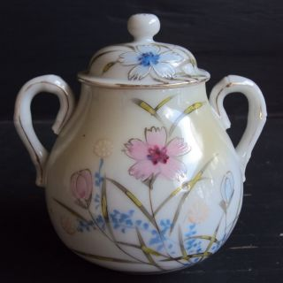 Antique Meiji Japanese Kutani Porcelain Tea Set Teapot Creamer Sugar