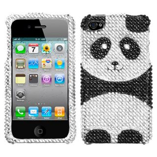 Apple iPhone 4 4S Rhinestone Hard Shell Case Panda