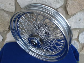 16X3 80 SPOKE TWISTED FRONT WHEEL FOR HARLEY HERITAGE FATBOY 1984 99