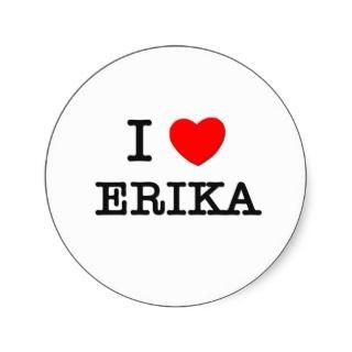 Love Erika Round Sticker