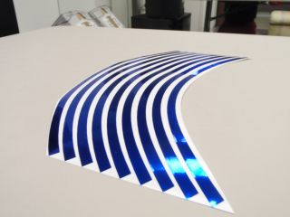 Red Reflective Motorcycle Rim Stripe Wheel Decal Tape