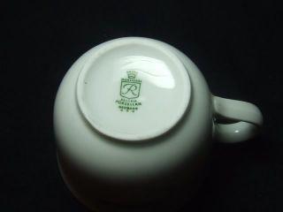 c1970   1 Wunsidel Porzellan Bavaria Germany Thistle Pattern Espresso