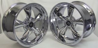 Chrome Bullitt 18 inch Mustang Wheels Deep Dish 18x9 18X10