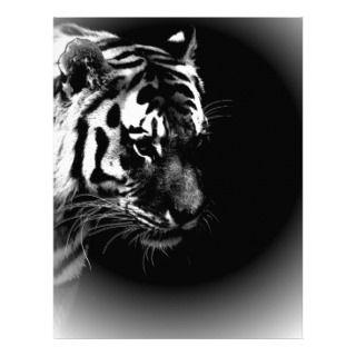 Black & Wild Tiger Head Letterhead Template
