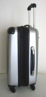 3Piece Luggage Set Hard Rolling 4 Wheels Spinner Silver