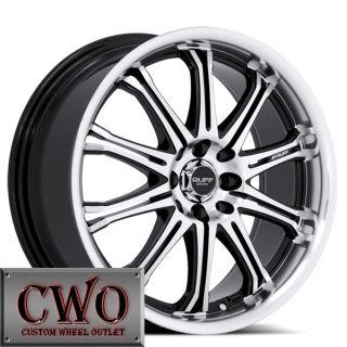17 Black Ruff R395 Wheels Rims 5x100 5x114 3 5 Lug Jetta Altima Maxima