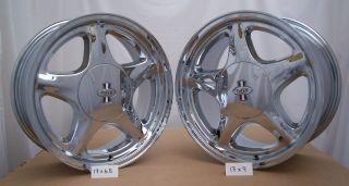 Mustang 17 Pony R Wheels 17x6 5 5 Lug Chrome Tires