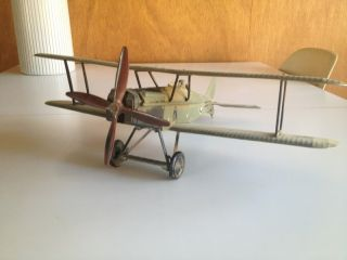 Vintage Bi Plane German Fighter British Control Line Plane Aurora
