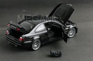18 Kyosho BMW E46 M3 CSL Black BBs Rim with Bag
