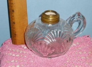beautiful little antique Ca 1880s Finger Oil Lamp in the Clustered
